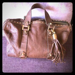 Beautiful leather tote handbag